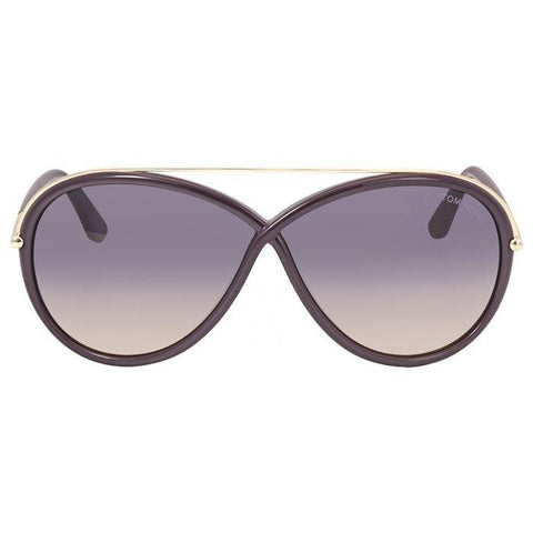 Tom Ford Sunglasses Oval Style Purple Gradient Lens
