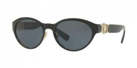 Versace Sunglasses VE 2179 1291/87 Black Pale Gold / Gray 55 mm 129187 NIB