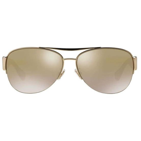 Coach Sunglasses Aviator Style Crystal Gold Lens
