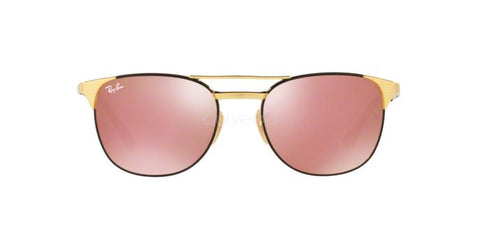 Ray Ban Square Style Sunglasses W/Copper Flash Lens
