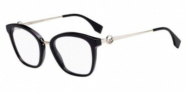Fendi Eyeglass - Square Style FF 0307 807 50 Women Plastic Frame with Demo Lens