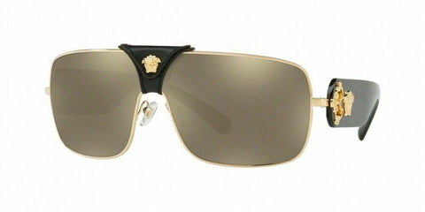 Versace VE2207QA 1002/5 Squared Baroque Gold 100% AUTHENTIC