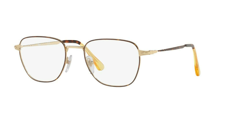 Persol Eyeglass PO2447V 1075 54mm Square Style - Metal Capsule Men's Sunglass Gold/Havana Frame