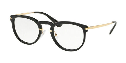 Prada Cat Eye Style Black Gold Eyeglasses W/Demo Lens