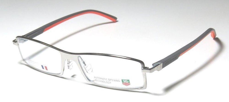 New TAG HEUER TH0802 009 56MM Automatic Optical Eyeglasses Frame Silver