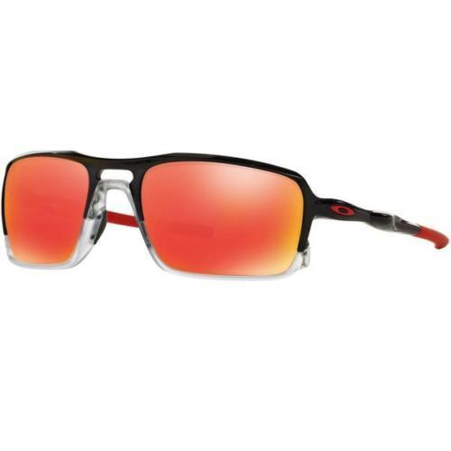 New Oakley OO9266-10 Sunglasses Men Triggerman Black Red Ruby Iridium Fast Ship