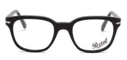 Persol Eyeglass PO3093V 9000 48mm Square Style | Black Frame With Demo Lens