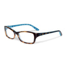 Oakley Eyeglass- Short Cut Cat Eye Style of Tortoise Plaid Plastic Frame with Demo Lens- OX1088 0153
