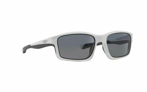 New Oakley Sunglasses Chainlink White Grey Polarized OO9247-07 Authentic HTF