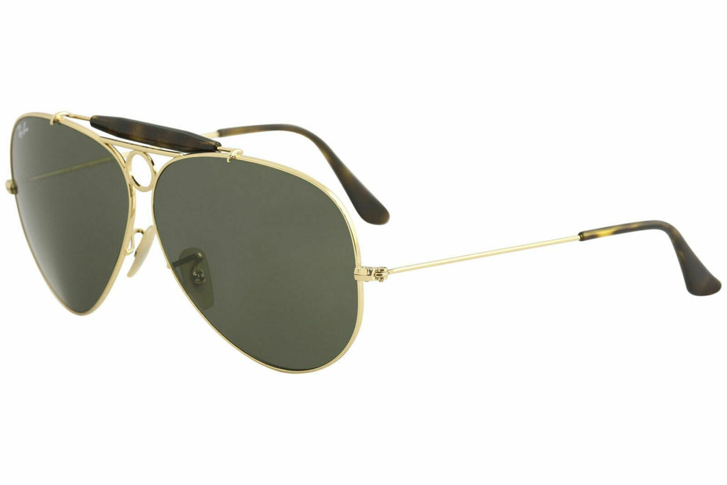 2948182e2d Ray-Ban Sunglasses Shooter Havana Collection Pilot Style Green Classic G-15  Lens
