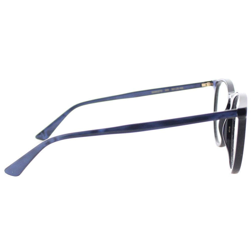 Gucci eyeglass round style GG0027O 005 50mm - Unisex blue frame color