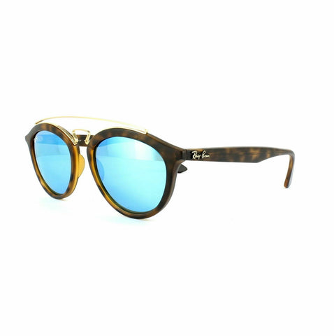 Ray Ban Sunglasses Gatsby RB4257 609255 Matt Havana Blue Mirror Large 53mm