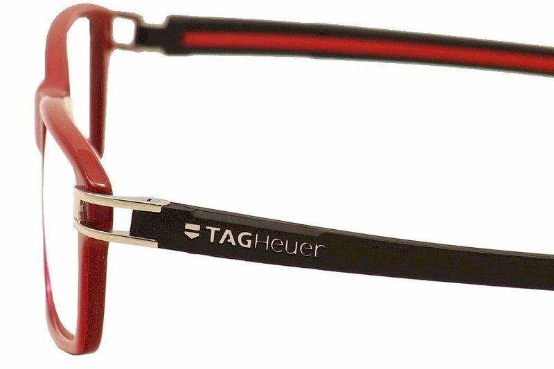 Tag Heuer Track S Eyeglasses TH7601 TH/7601 005 Red Full Rim Optical Frame 55mm