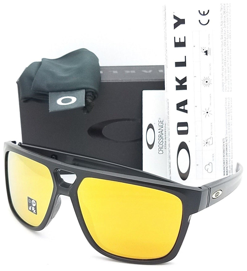 Oakley Sunglass Crossrange Patch Square style 24K Iridium lens- OO9382-2360
