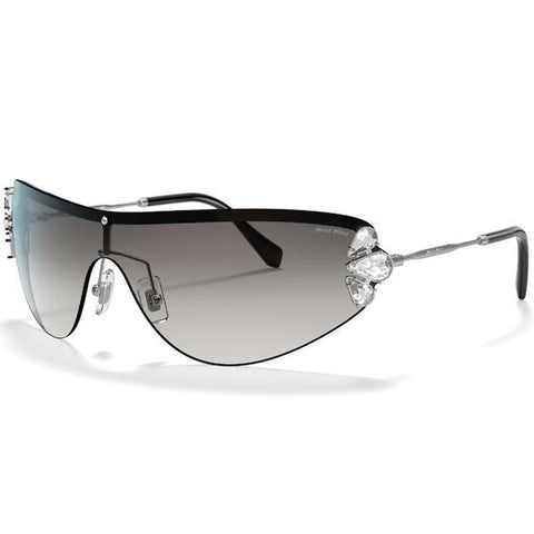 Miu Miu Catwalk Evolution MU66US 1BC0A7 48 Silver/Grey Shaded  Sunglasses