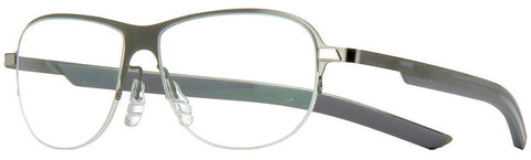 Tag Heuer Eyeglass Square Style Demo Lens - Unisex Eyeglass Light Grey Ruthenium Frame TH3822 003 53mm