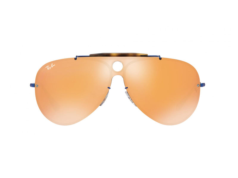 Ray Ban Blaze Shooter Sunglasses RB3581N 90387J Blue Dark Orange Aviator 3581