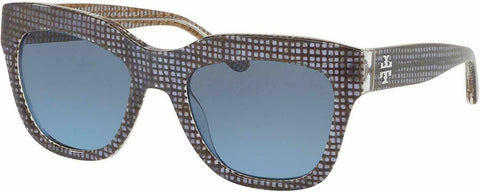 Tory Burch TY7126 17398F 53 Sunglasses Navy Crystal On Raffia  53mm