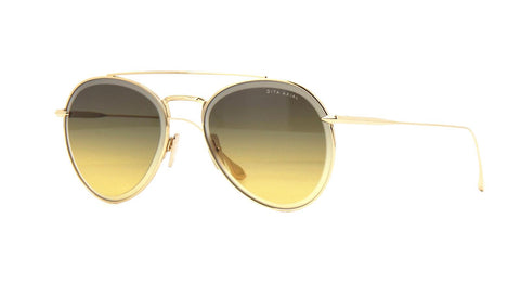Dita Sunglass - Axial Model Aviator Style Gold Tone Color Sunglass DTS502-57-04