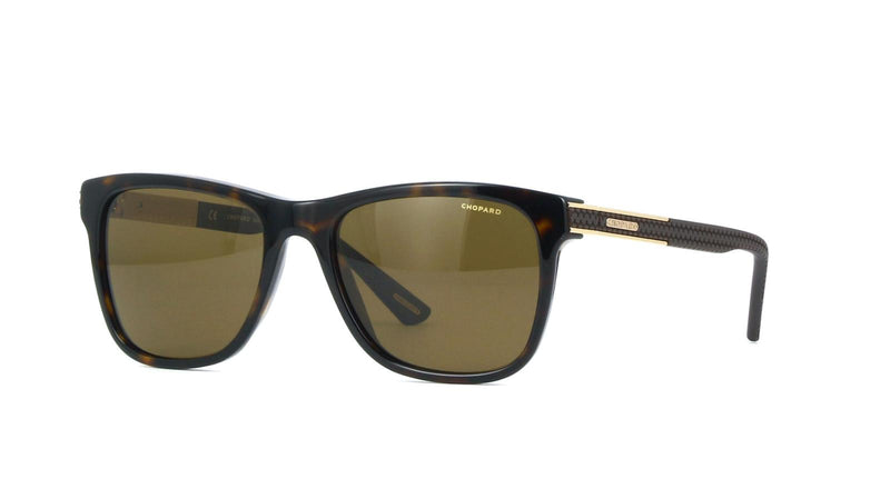 Chopard Sunglass SCH218 722P 54MM Square Style | Brown Polarized Lens