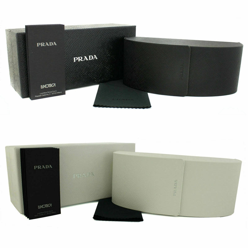 Prada Sunglass Square Style PR14TS HAJ4S1 53 | Matte Light Havana Color Grey/Silver Gradient/Mirrored Lens