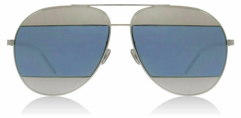 Christian Dior Sunglass Aviator Style with Blue & Grey Mirrored Lens - Split-1010KU-59