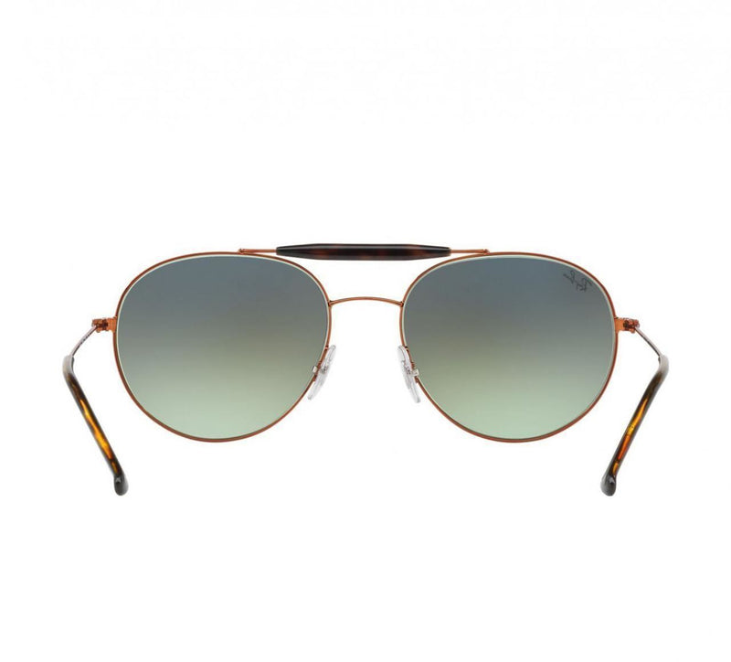 Ray-Ban Aviator Sunglasses RB3540 9002/A6 56 Bronze Copper w/Green Gradient Lens