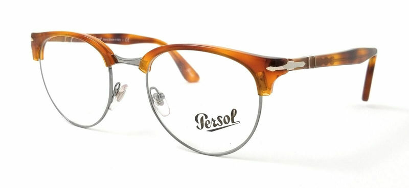 Persol Eyeglass PO8129V 96 48 Cellor series Round Style | Terra Di Siena color