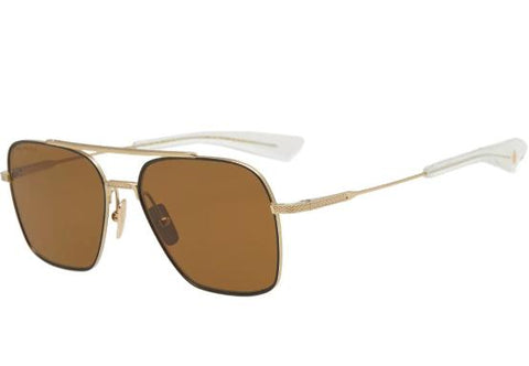 Dita Sunglass Flight-Seven Square Style Black/Gold Color | DTS111-57-04