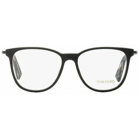 Tom Ford Oval Eyeglasses TF5384 002 Matte Black/Horn 53mm FT5384