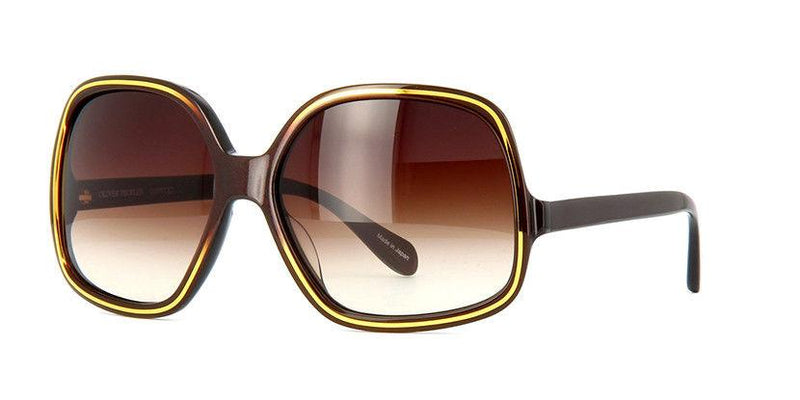 Oliver Peoples Sunglass Butterfly Style Talya DNS Model Spotted Yellow Tortoise Color OLIVER PEOPLES