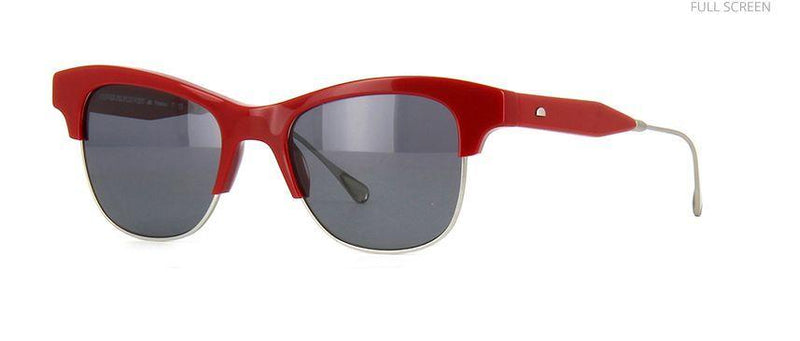 Oliver Peoples Sunglass West Flint Square Style Grey Lens - Unisex Sunglass Red Frame OV5261S 0350
