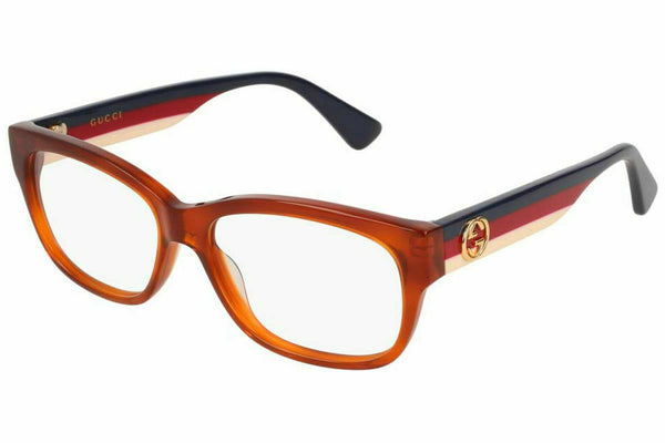 Gucci Eyeglasses GG0278O 003 Havana Brown Women's Optical Frame