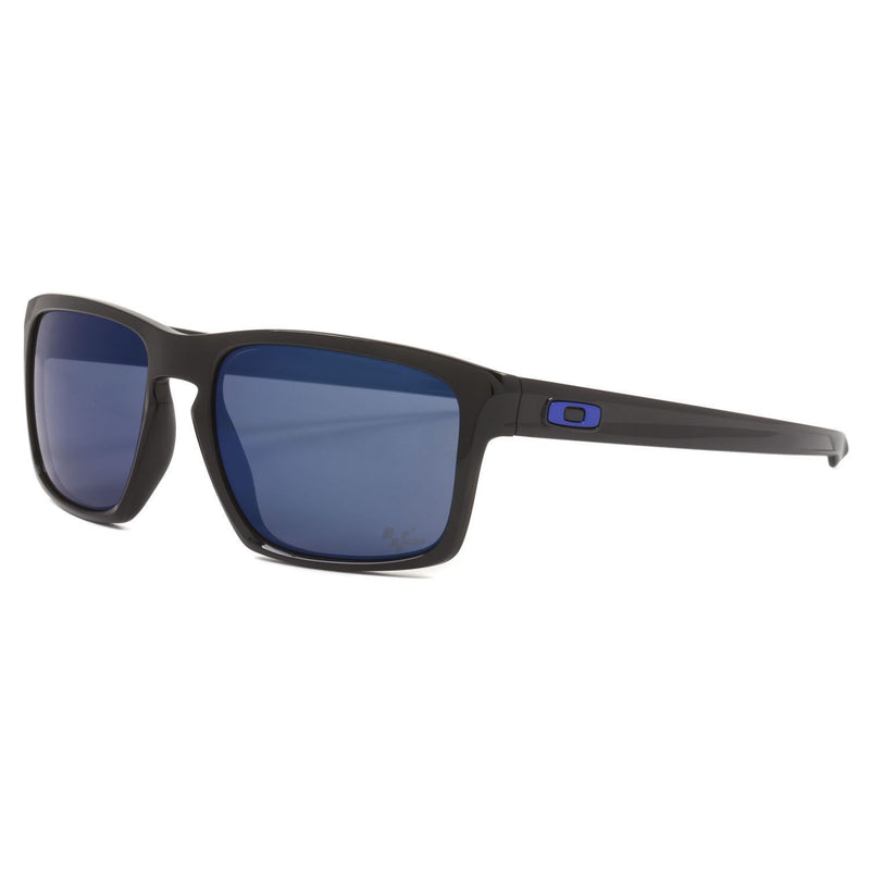 Oakley Sunglass - Square Style Plastic Frame with Blue Lens - Sliver MotoGP OO9262 28