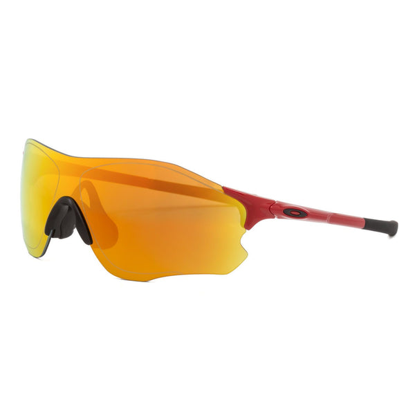 Oakley Evzero Path Sunglasses OO9308-10 Infrared Red Frame Fire Iridium Mirrored