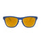 Oakley Sunglass - Cat Eye Style Plastic Frame with Gold Lens - Frogskins xs OJ9006-0453