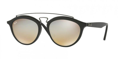 Ray Ban Round Style Sunglasses W/Brown Mirrored / Gradient Grey Lens