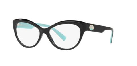 Tiffany & Co. TF 2176-F 2176 Eyeglasses Black Turquoise 8001 Authentic 53mm