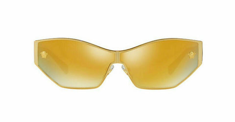 Versace Woman's Butterfly Sunglasses VE2205 1002/7P 67 Gold / Brown Mirror Gold
