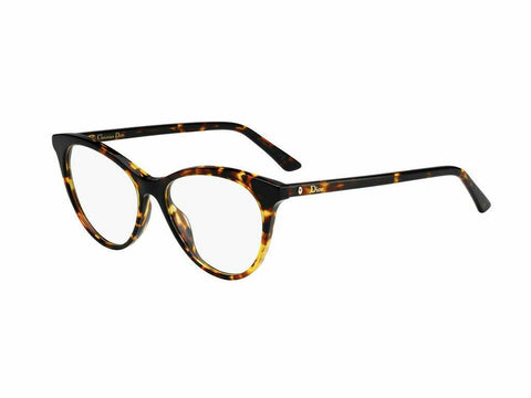 Christian Dior Montaigne 57 Eyeglasses Amber Tortoise 086 Authentic 52mm