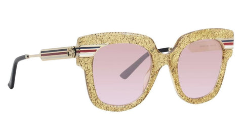 Gucci Sunglasses GG0281S 004 Yellow Rectangular Women Sunglasses - 50MM