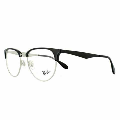 Ray-Ban Glasses Frames RX6396 2932 51 Silver Black Unisex Optical Frame