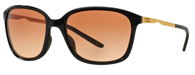Oakley Sunglass Game Changer Square Brown Lens - Women Sunglass Black Frame OO9291-04