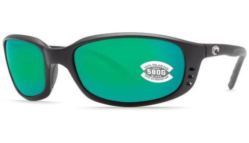 New Costa del Mar Brine BR 11 OGMGLP Matte Black Frame / Green Mirror 580G Lens