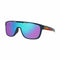 Oakley Sunglass Crossrange Shield Mist Frame with Navy Blue Single Prizm Lens - OO9387 10