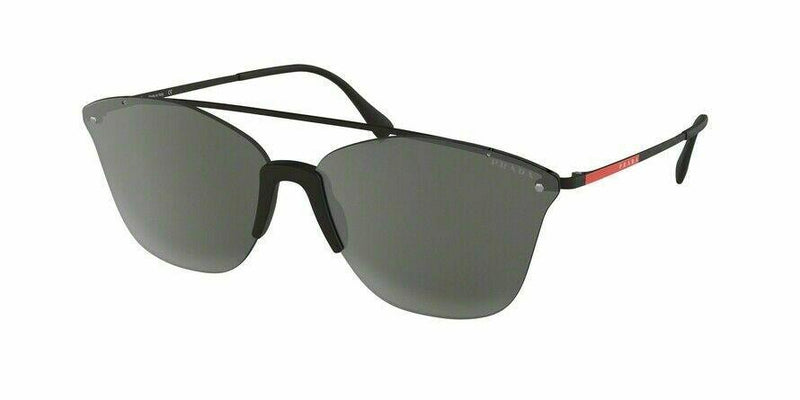 Prada Sport Sunglasses PS52US DG02B0 64 Black Frame | Silver Mirror Lens
