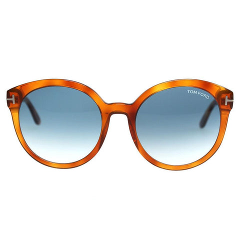 Tom Ford Sunglasses Oval Style Blue Gradient Lens