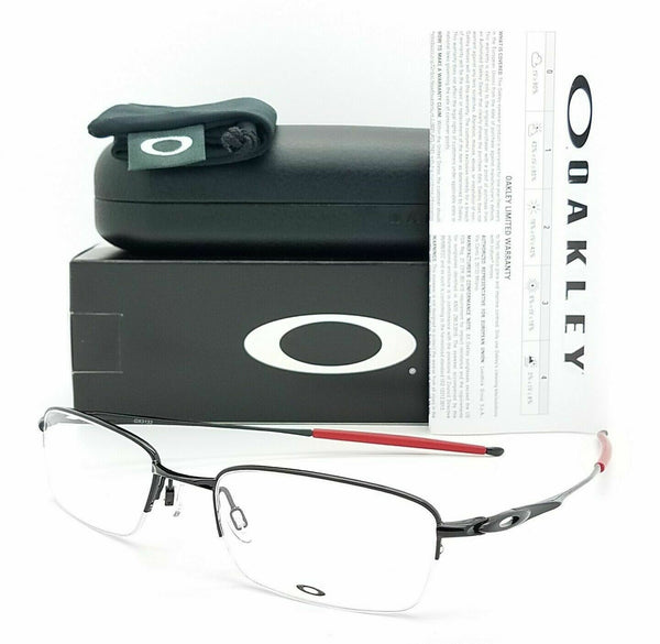Oakley OX3133 RX Prescription Frame Pol. Black Red OX3133-0751 51mm Half Rim