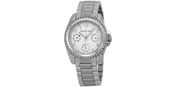 Michael Kors Women Round Watch Silver Band Analog Dial MK5612 39mm