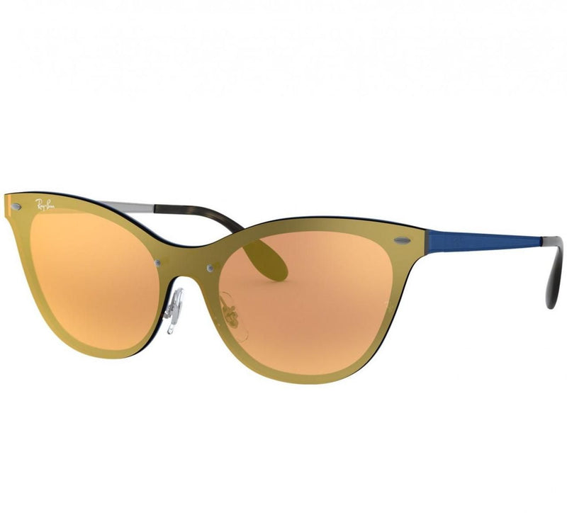 Ray-Ban RB3580N-90377J Blaze Blue Cat Eye Dark Orange Mirror Lens Sunglasses 8053672771220